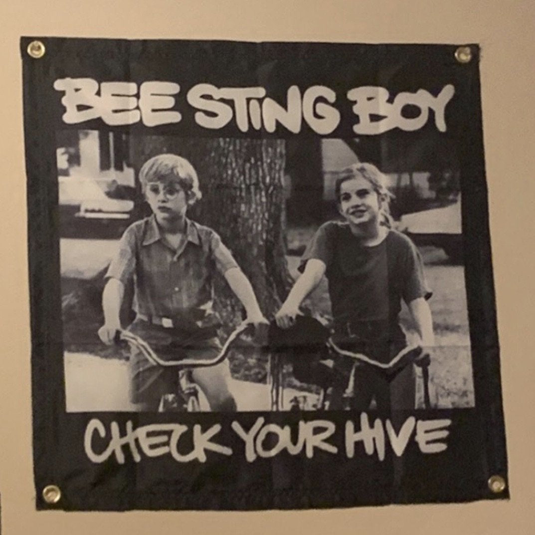 Bee Sting Boy Wall Tapestry