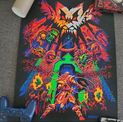 Castlevania Blacklight Limited Edition 18x24