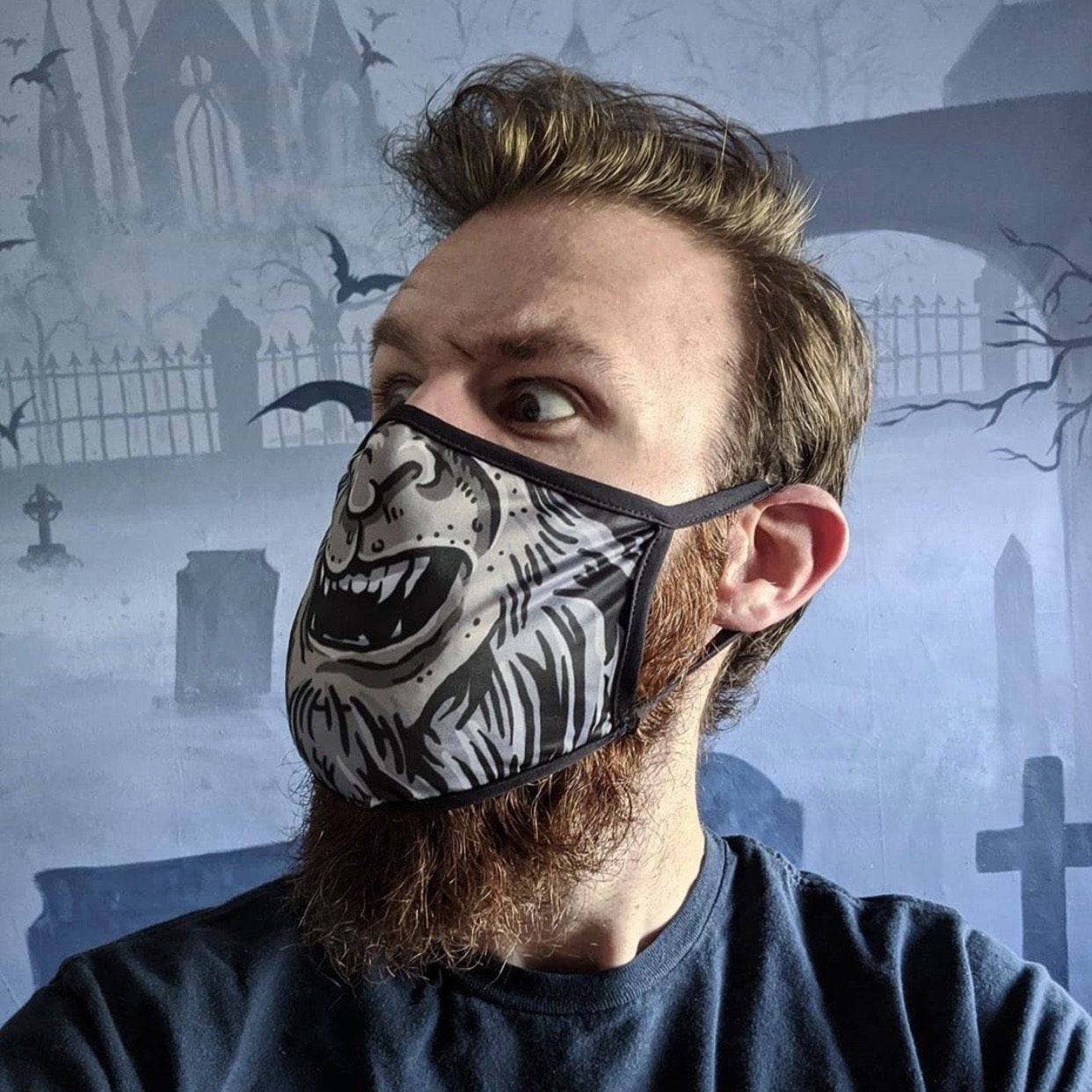 Squad Wolf Man Face Mask