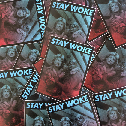 Stay Woke Vinyl Sticker