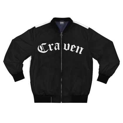 Craven Black Bomber Jacket
