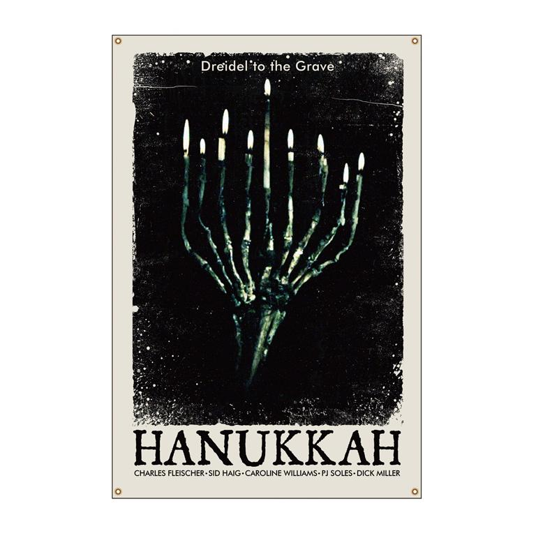 Hanukkah Bone Menorah Wall Tapestry