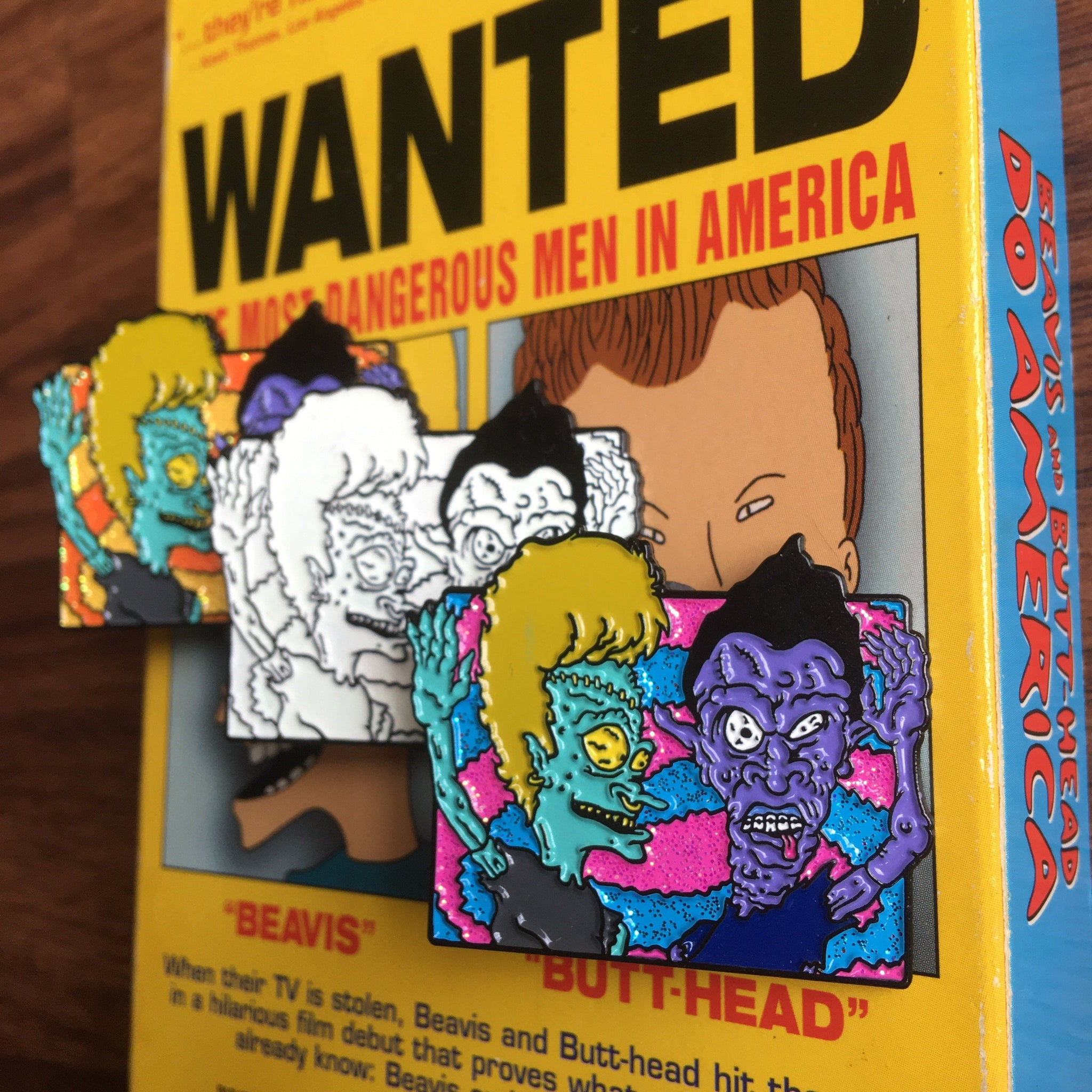 Travis and Bob Head in the Desert Enamel Pin