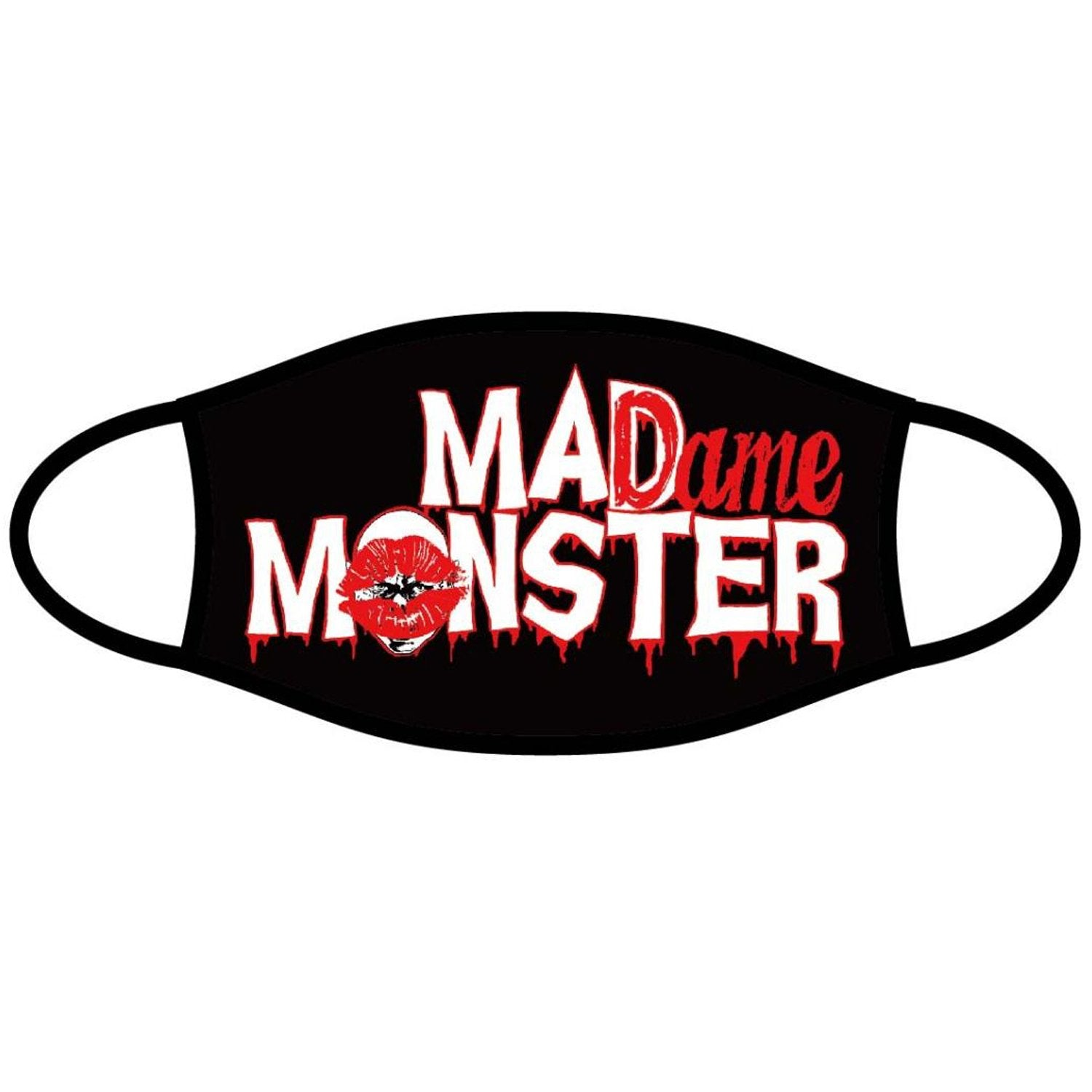 Madame Monster Red Logo Face Mask