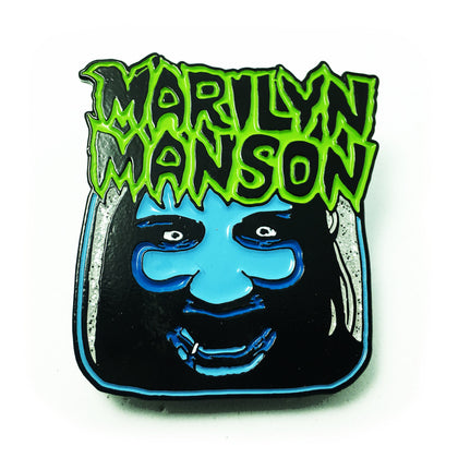 Marilyn Manson Riot Fest Exclusive Enamel Pin