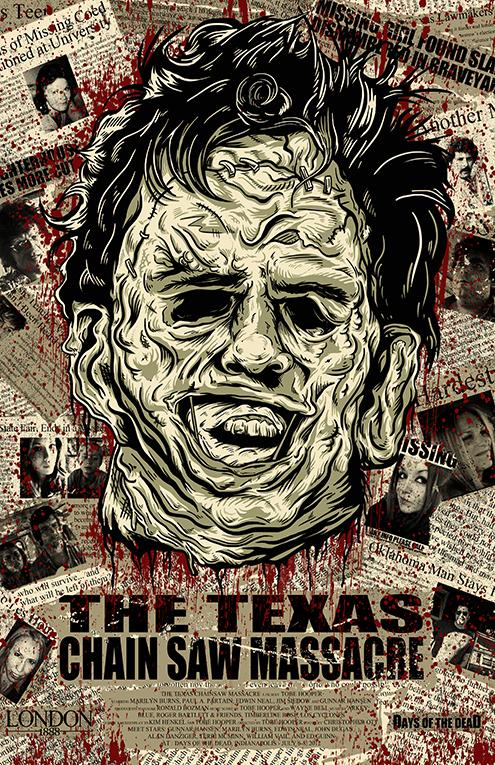 Texas Chainsaw Massacre Collage 11x17