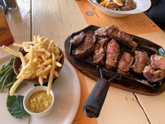 steak and frites by the sea