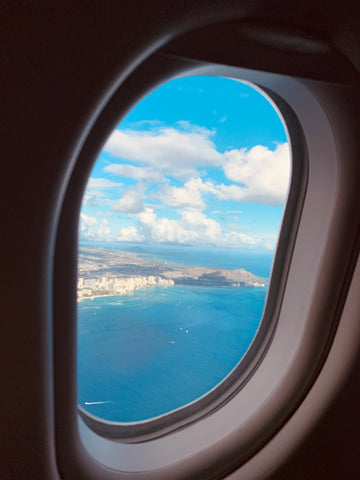 the view of waikiki from hawaiian airlines