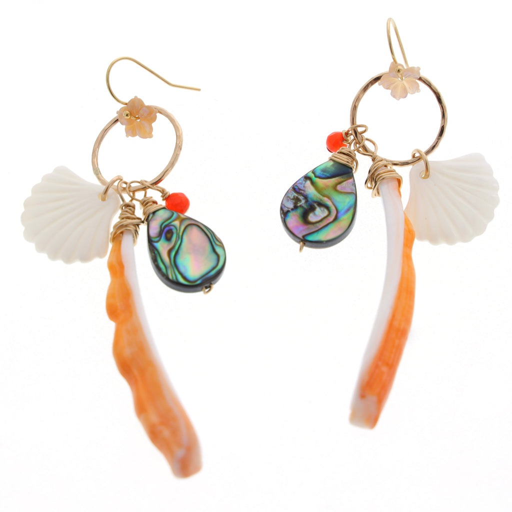 Tahitian Sunset Earrings - 21 Degrees North Designs - 21ºN