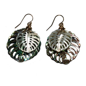 Elua Monstera Earrings - 21 Degrees North Designs