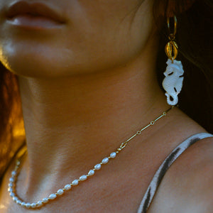 Not Your Mamas Pearl Necklace - 21 Degrees North Designs - 21ºN