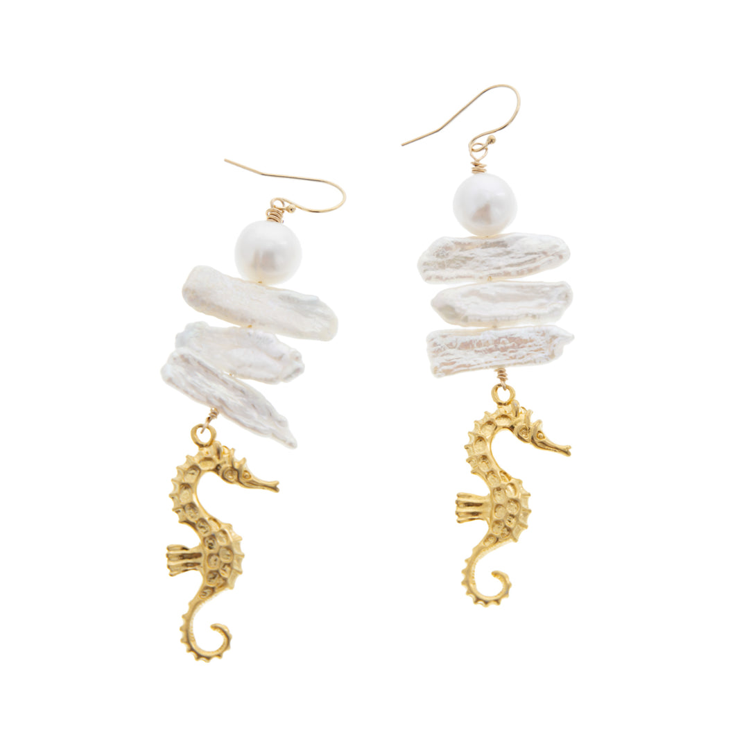 Hapuna Seahorse Earrings - 21 Degrees North Designs - 21ºN