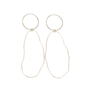 freeform organic gold hoops