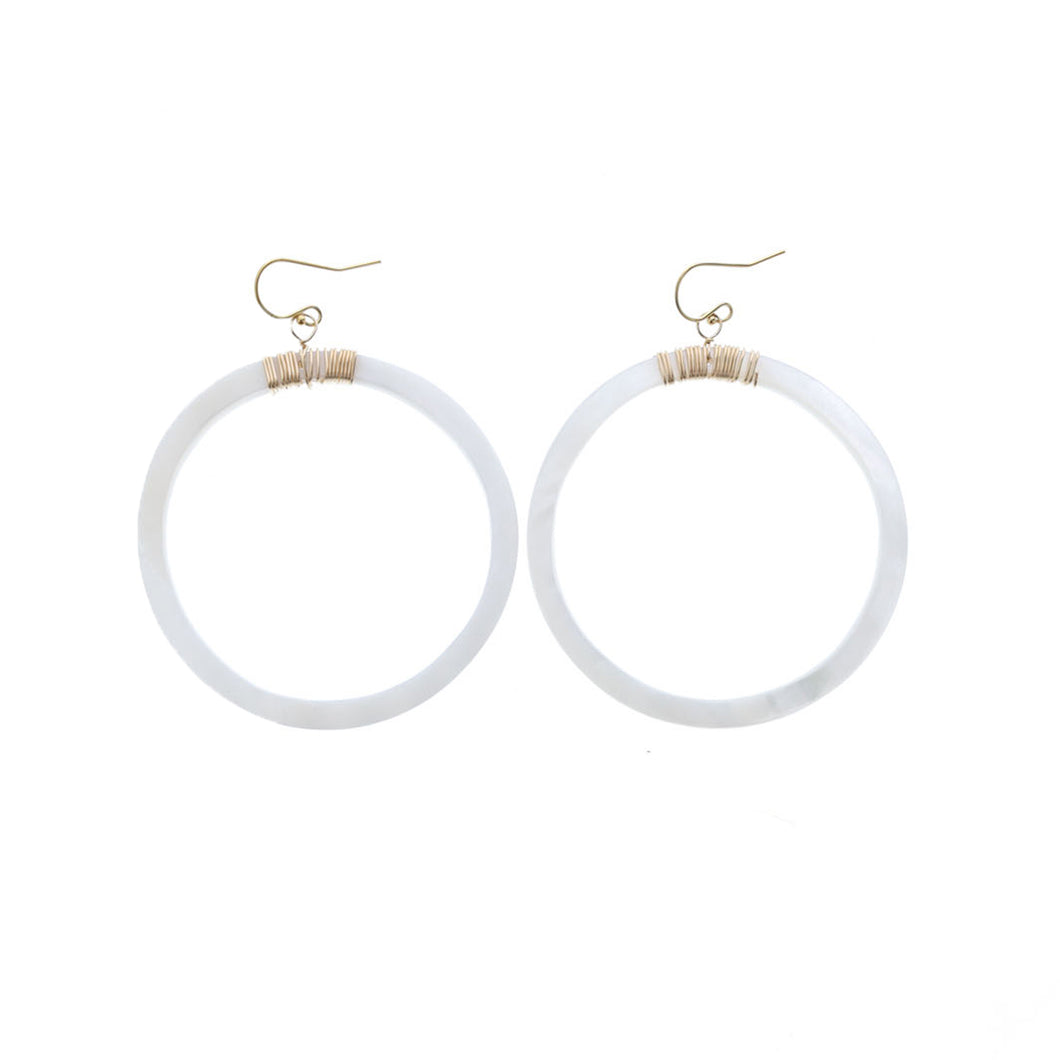 Makena Hoop Earrings - 21 Degrees North Designs - 21ºN