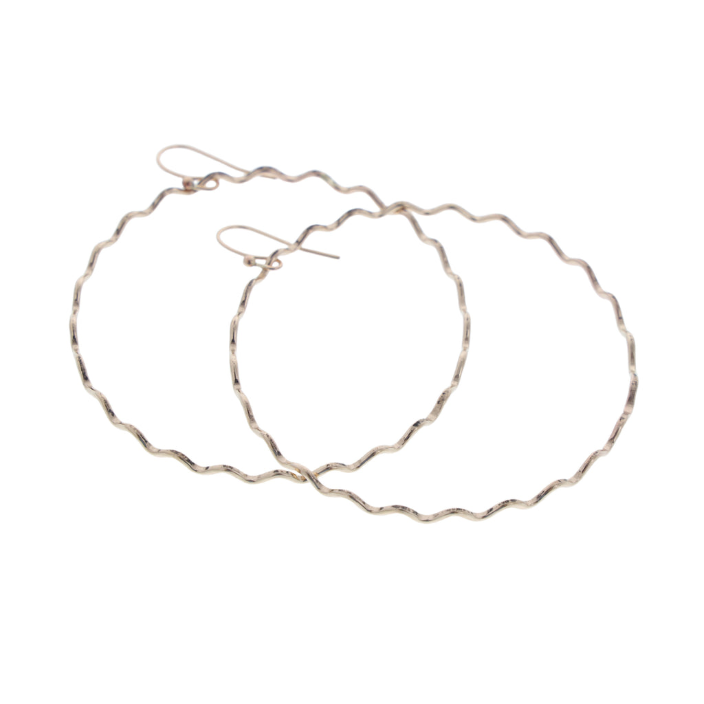 Nalu Hoop Earrings - 21 Degrees North Designs - 21ºN