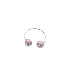 Pearl Cuff RIngs - Silver