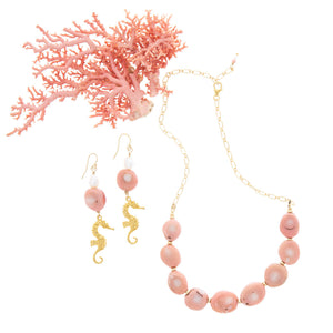 Pink Seas Earrings - 21 Degrees North Designs
