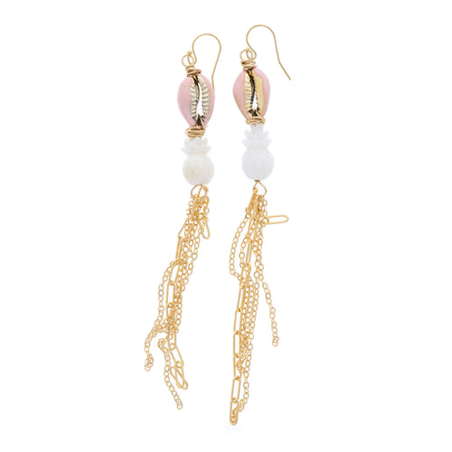 Pink Pineapple Earrings - 21 Degrees North Designs - 21ºN