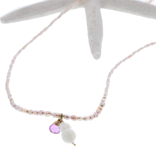 Pink Pineapple Necklace - 21 Degrees North Designs - 21ºN