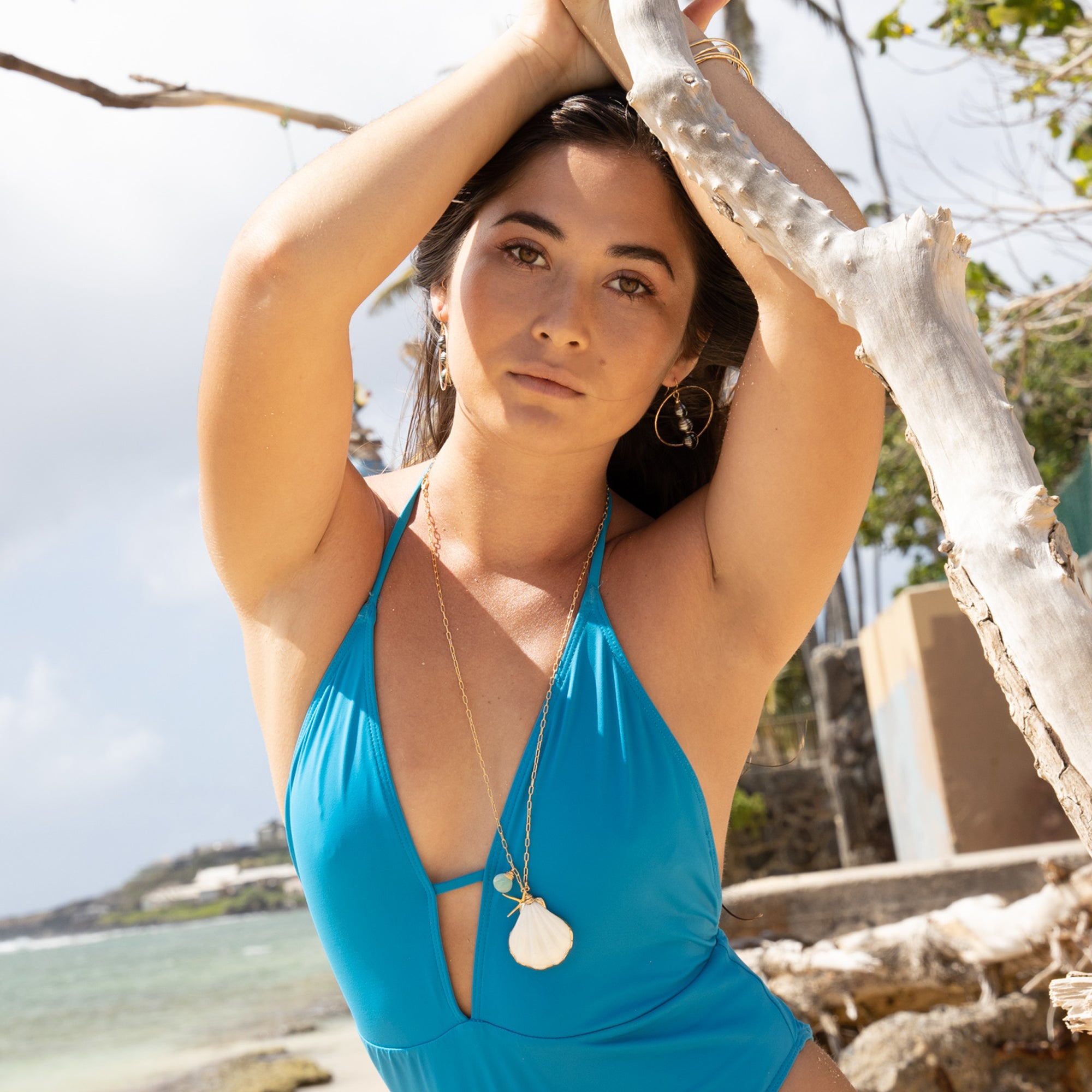 Tahitian Moon Triton Necklace - 21 Degrees North Designs
