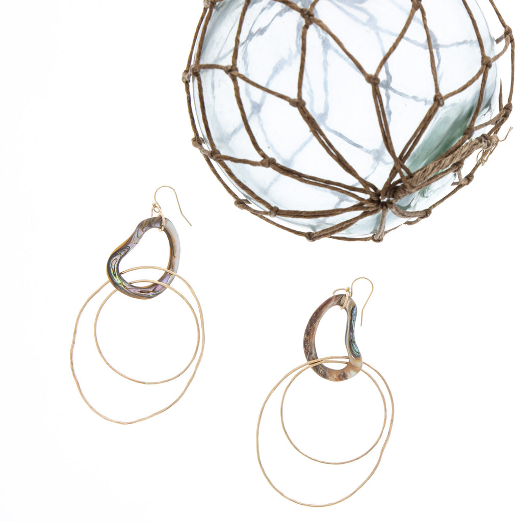 Upena Hoop Earrings - 21 Degrees North Designs - 21ºN