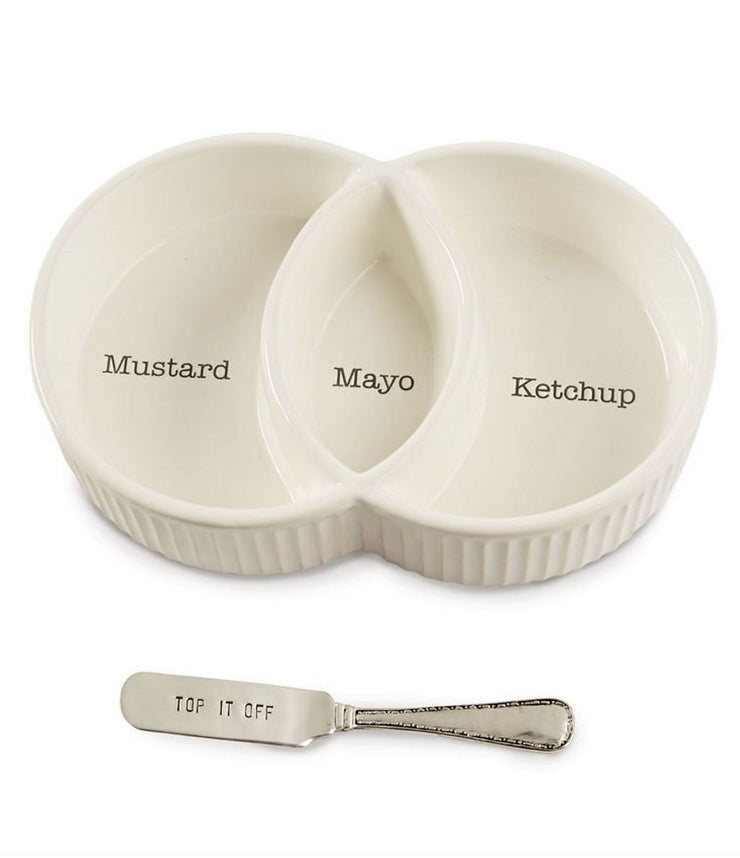 Mud Pie - Condiment Serving Set (Curbside Pickup Only)