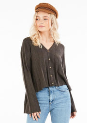 Sitting Fireside Cardigan- Charcoal