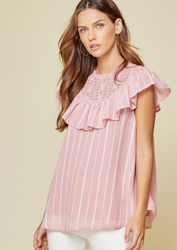 Hannah Pink Blouse (extended sizes)