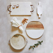 Acaia Wood & Marble Cheese Board