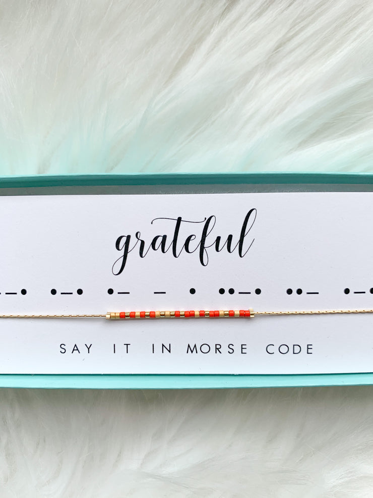 Dot & Dash Morse Code Necklaces- ASSORTED