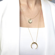 Gorjana - Cayne Crescent Pendant Necklace