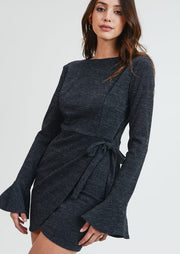 Naomi Wrap Dress- Black