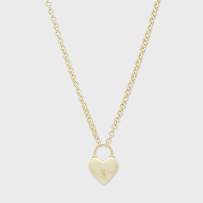 Gorjana - Kara Heart Padlock Necklace
