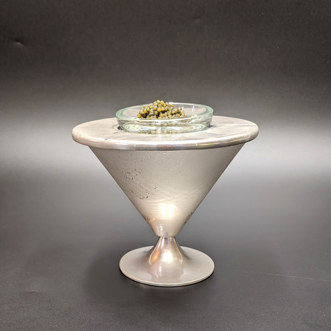 Silver Plated Conic Caviar Server