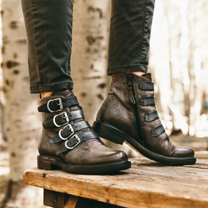 Women Vintage Low Heel Boots