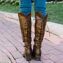 Load image into Gallery viewer, Women  Lace Up Back Riding Boots