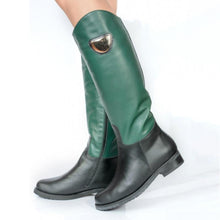 Load image into Gallery viewer, Women Zipper Round Toe Pu Casual Chunky Heel Mid-Calf Boots
