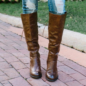 Women  Lace Up Back Riding Boots