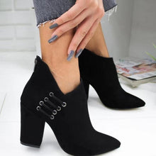 Load image into Gallery viewer, Elegant Back Zipper All Season High Heel Ankle Boots