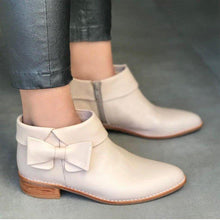 Load image into Gallery viewer, Women Winter Slip-On Bowknot Ankle Boots