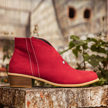 Load image into Gallery viewer, Red Faux Leather All Season Boots