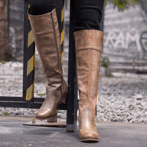 Women Winter Slip-On Knee-High Boots