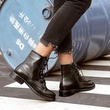Load image into Gallery viewer, Lace-up Chunky Heel Daily Casual Boots