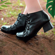 Load image into Gallery viewer, Women Winter Elastic Band Button Ankle Boots