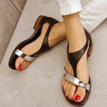 Load image into Gallery viewer, Women Leather Slippers Casual Fashion Flat Strap Plus Size Shoes