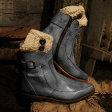 Load image into Gallery viewer, Winter Casual Low Heel Ankle Boots
