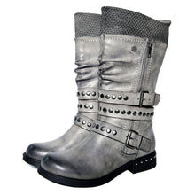 Load image into Gallery viewer, Low Heel Rivet Winter Casual Boots