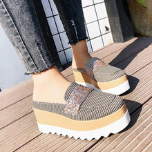 Load image into Gallery viewer, Printed Mules Platform Sandals Women
