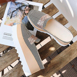 Printed Mules Platform Sandals Women