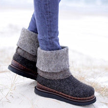 Load image into Gallery viewer, Women Winter Slip-On Woolen Ankle Boots